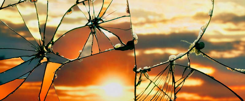 Broken Mirror/Evening Sky by Bing Wright